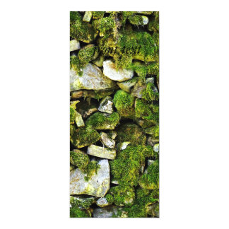 Mossy Rocks Background 4x9.25 Paper Invitation Card