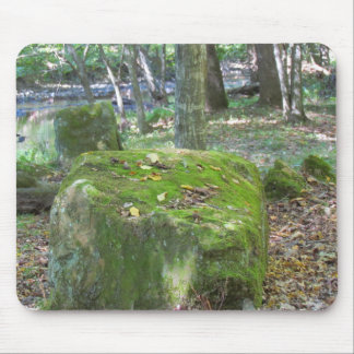 Mossy Rocks on Bank Mouse Pad
