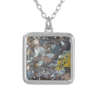 mossy square pendant necklace