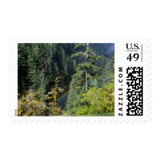 Mossy Tree And Rainbow Above Eagle Creek Postage