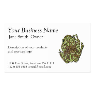 Mossy Tree Frog Business Card