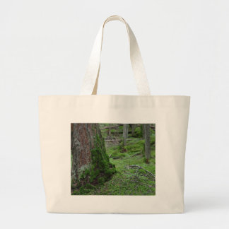 Mossy Trees Forests Woods Large Tote Bag