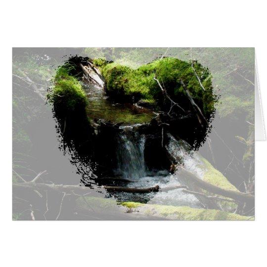 Mossy Waterfall Card