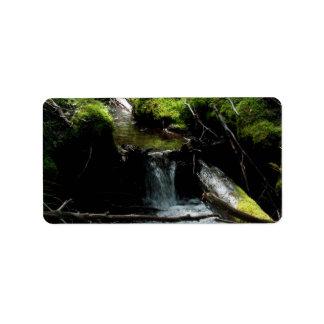 Mossy Waterfall Address Label