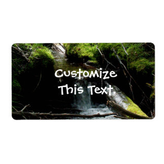 Mossy Waterfall Shipping Label