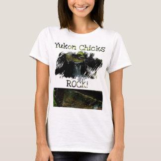 Mossy Waterfall; Yukon Chicks ROCK! T-Shirt