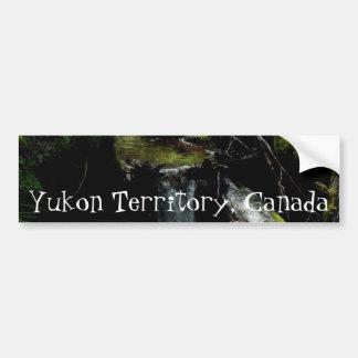 Mossy Waterfall; Yukon Territory Souvenir Bumper Sticker
