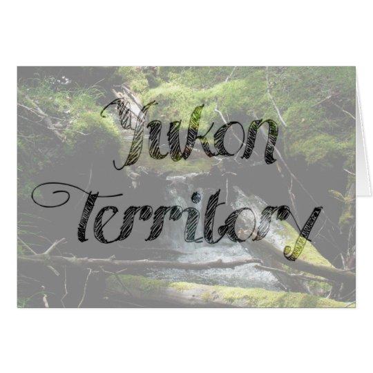 Mossy Waterfall; Yukon Territory Souvenir Card