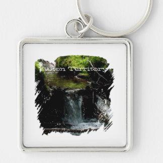 Mossy Waterfall; Yukon Territory Souvenir Keychain
