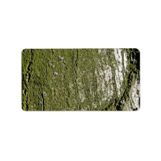 Mossy Wood Texture Address Label