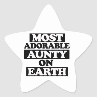 Most adorable aunty star sticker