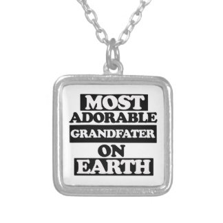 Most adorable grandfather custom necklace