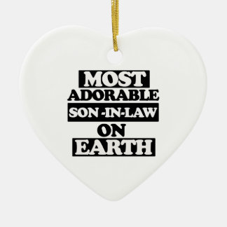 Most adorable son-in-law christmas ornament