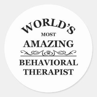 Most amazing Behavioral Therapist Classic Round Sticker