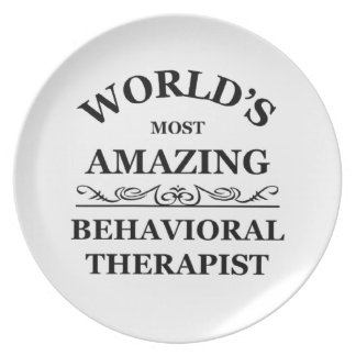 Most amazing Behavioral Therapist Plate