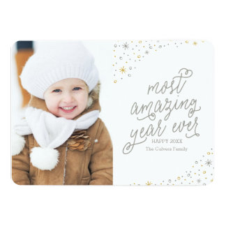 Most Amazing Year Ever New Year's Photo Card