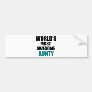 Most awesome aunty bumper sticker