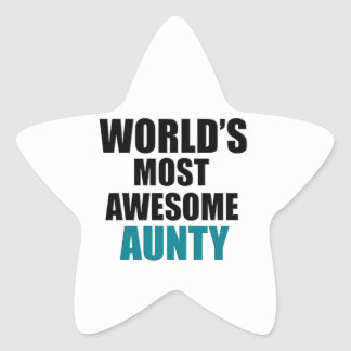 Most awesome aunty star sticker