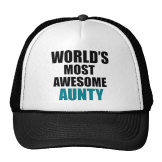 Most awesome aunty trucker hat