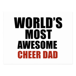 Most awesome cheer dad postcard