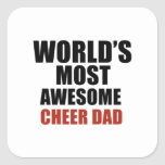 Most awesome cheer dad square sticker