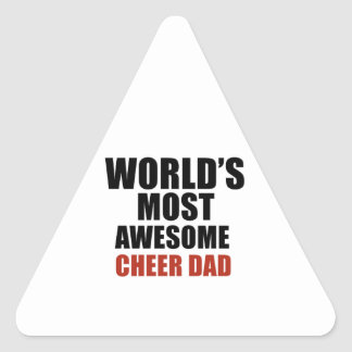Most awesome cheer dad triangle sticker