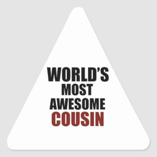 Most awesome COUSIN Triangle Sticker
