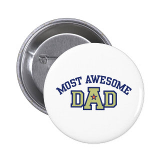 Most Awesome Dad Button