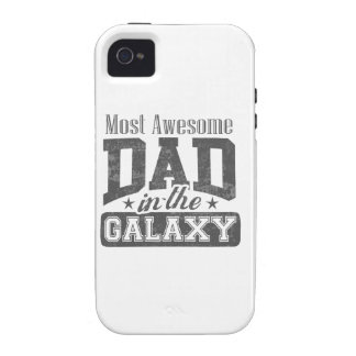 Most Awesome Dad In The Galaxy Vibe iPhone 4 Covers