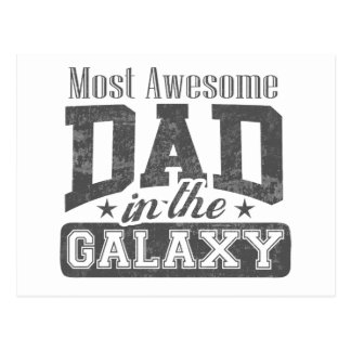 Most Awesome Dad In The Galaxy Postcard