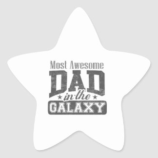 Most Awesome Dad In The Galaxy Star Sticker