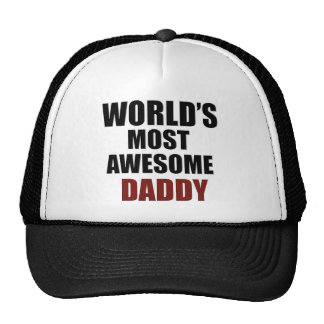 Most awesome daddy trucker hat