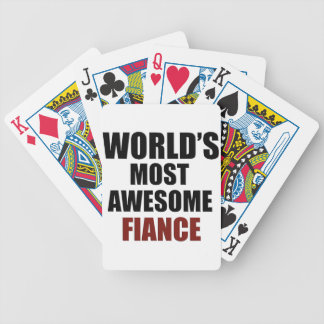 Most awesome Fiance Bicycle Playing Cards