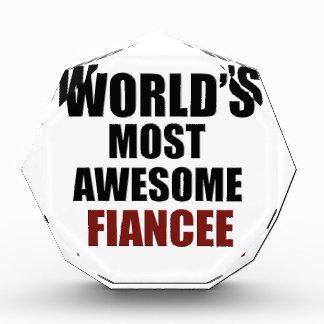 Most awesome Fiancée Acrylic Award
