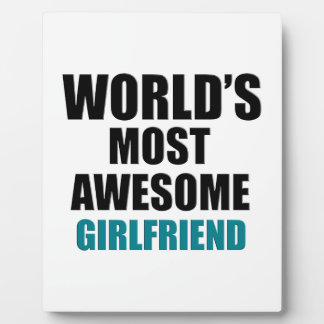 Most awesome girlfriend photo plaques
