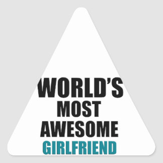 Most awesome girlfriend triangle sticker