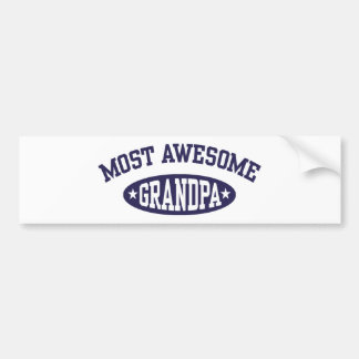 Most Awesome Grandpa Bumper Sticker