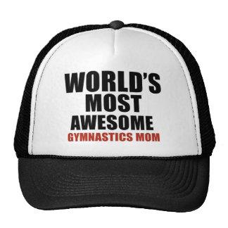 Most awesome gymnastics mom trucker hat