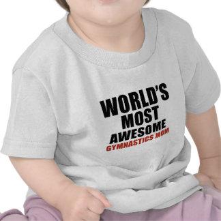 Most awesome gymnastics mom t shirt
