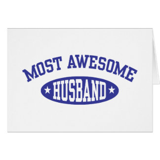 Most Awesome Husband Card