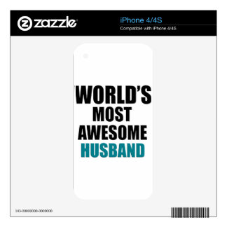 Most awesome husband decal for iPhone 4