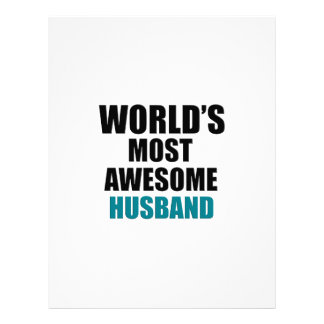 Most awesome husband letterhead