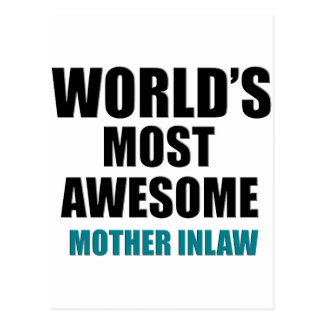 Most awesome Mother-in-law Postcard