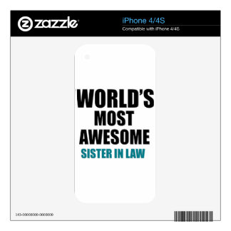 Most awesome sister-in-law decal for iPhone 4