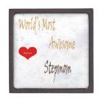 Most awesome Stepmom gift box Premium Keepsake Box