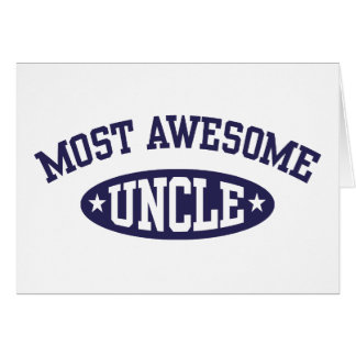 Most Awesome Uncle Card