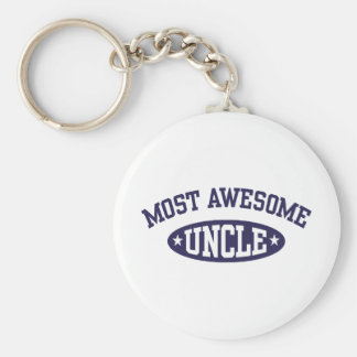 Most Awesome Uncle Keychain