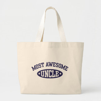 Most Awesome Uncle Large Tote Bag