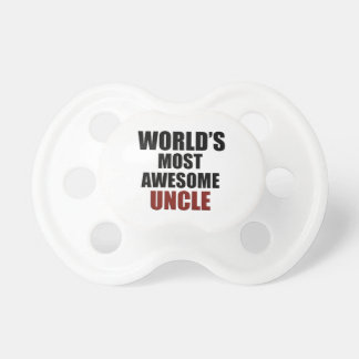 Most awesome uncle baby pacifiers