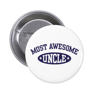 Most Awesome Uncle Pinback Button